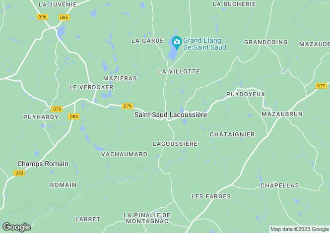 Map for St-Saud-Lacoussiere, Dordogne
