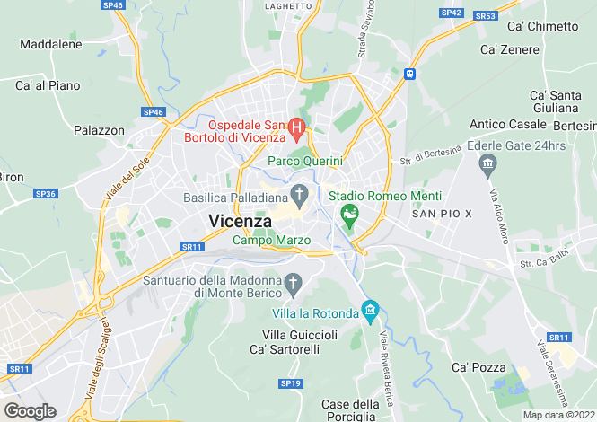Map for Vicenza, Vicenza, Veneto