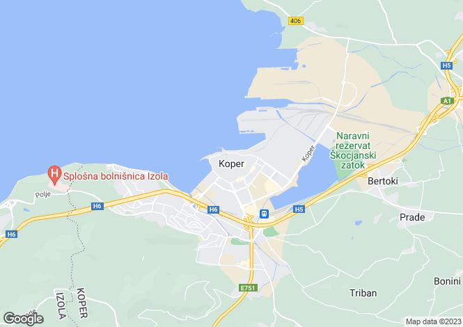 Map for Koper, Koper, Slovenia