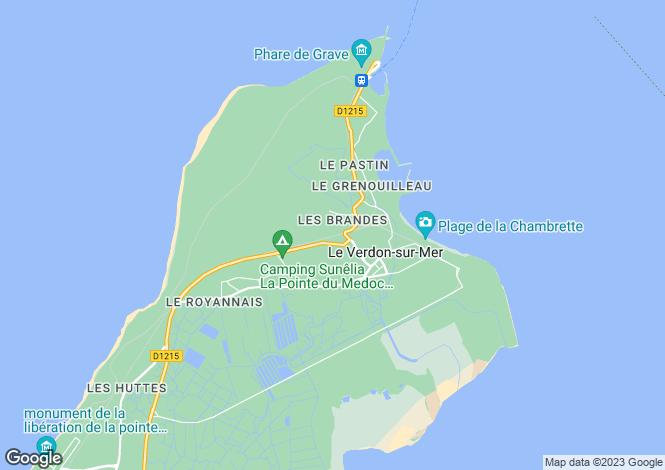 Map for le-verdon-sur-mer, Gironde, France