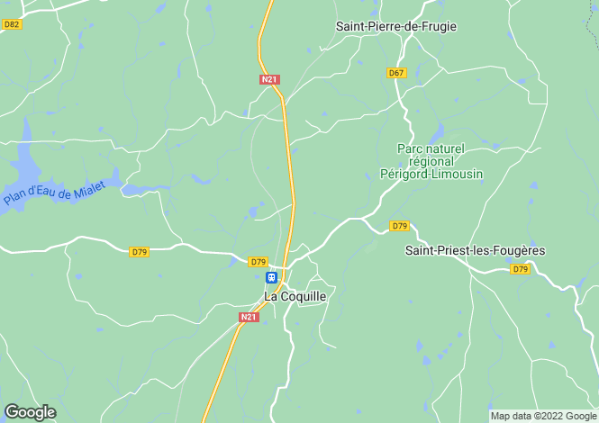 Map for Secteur: Mialet, Dordogne