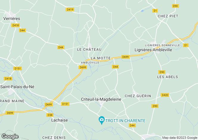 Map for ambleville, Charente, France