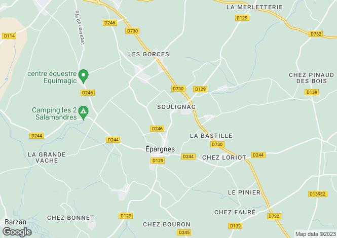 Map for Poitou-Charentes, Charente-Maritime, Épargnes