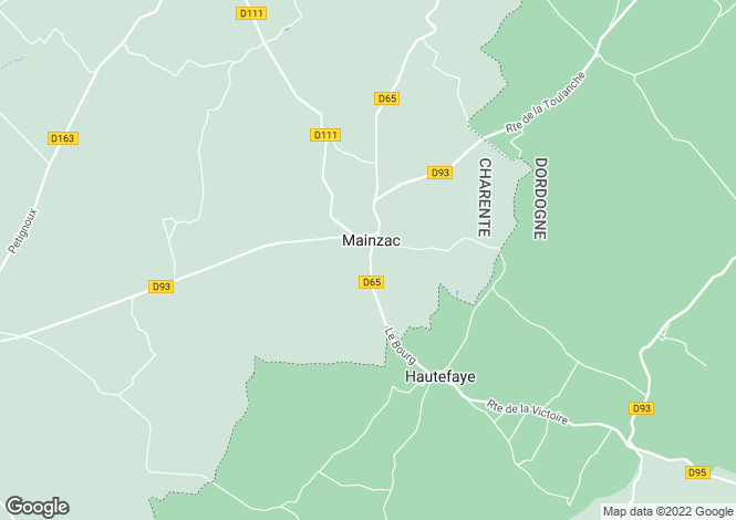 Map for mainzac, Charente, France
