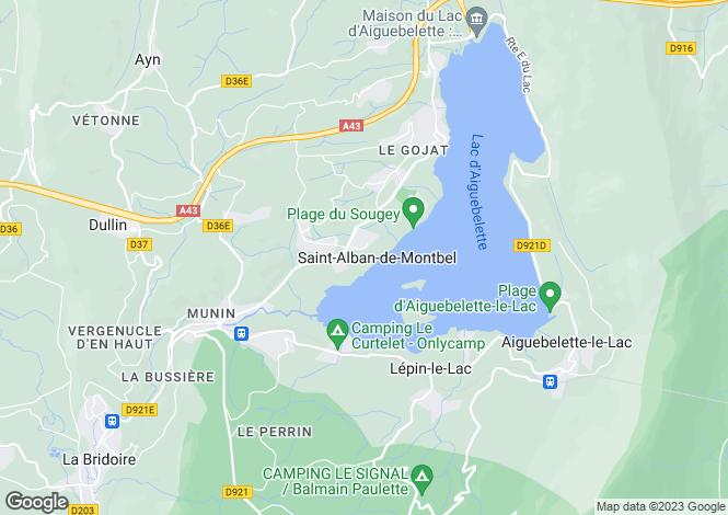 Map for Rhone Alps, Savoie, St-Alban-de-Montbel