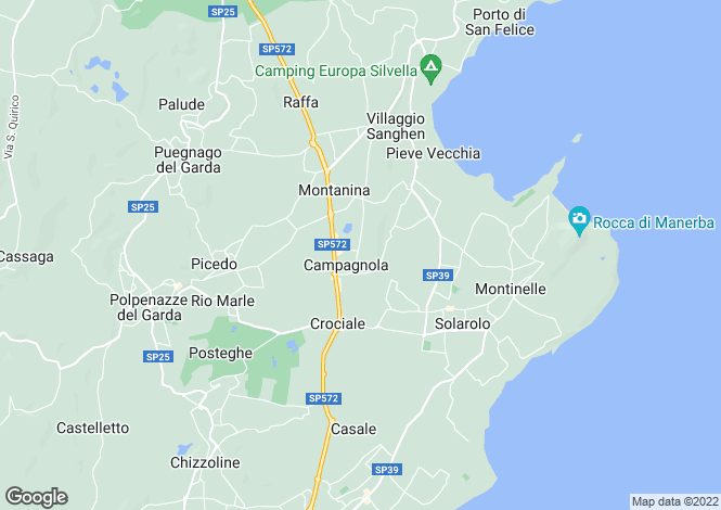Map for Manerba Del Garda, Brescia, Lombardy