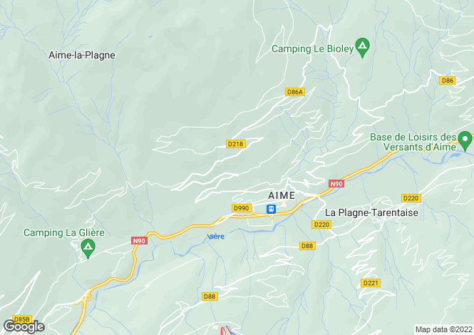Map for aime, Savoie, France