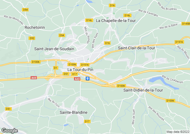 Map for la-tour-du-pin, Isère, France