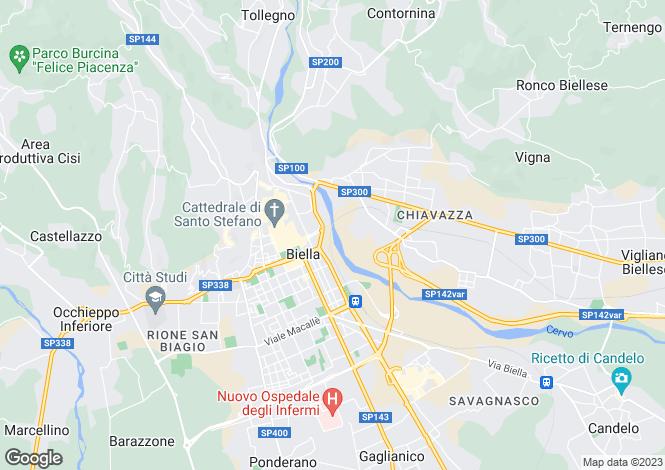 Map for Piedmont, Biella, Biella
