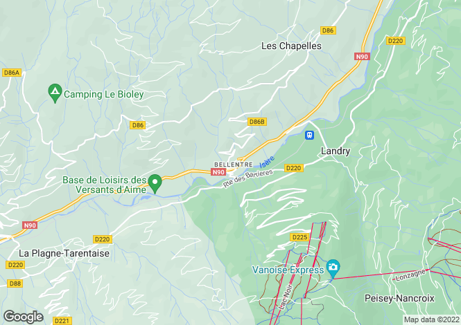 Map for Bellentre, Savoie
