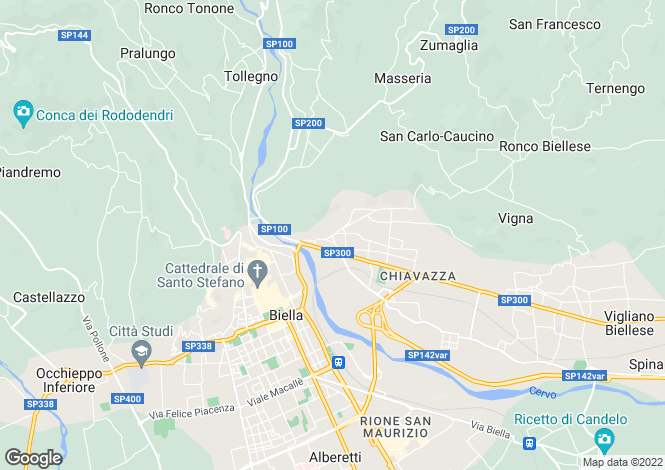 Map for Piedmont, Biella, Biella