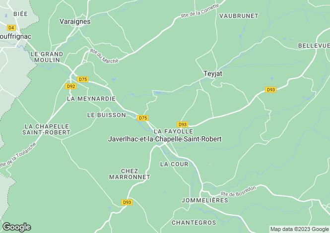 Map for Javerlhac-et-la-Chapelle-St-Robert, Dordogne, Aquitaine