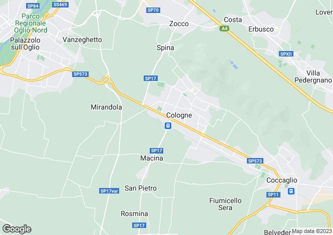 Map for Brescia, Brescia, Lombardy