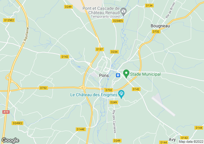 Map for Proche/Near Pons, Charente Maritime