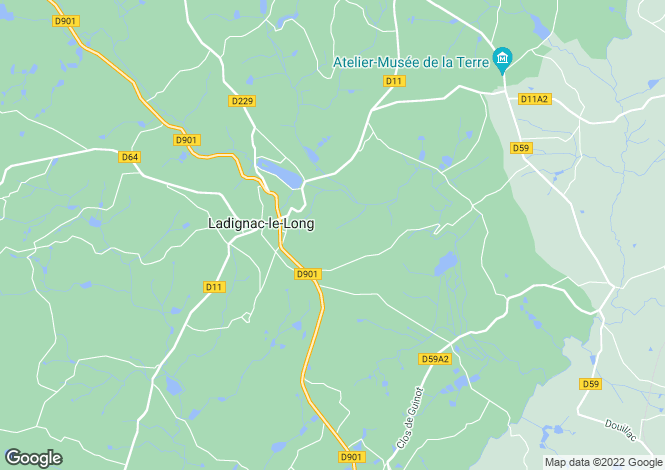 Map for 87500 LADIGNAC-LE-LONG, Haute Vienne, France