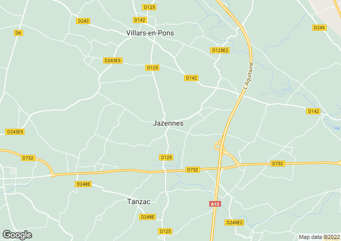 Map for jazennes, Charente-Maritime, France