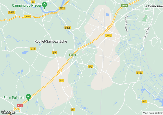 Map for roullet-st-estephe, Charente, France