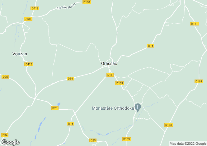 Map for grassac, Charente, France