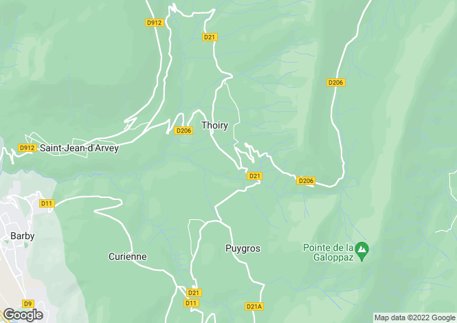 Map for Thoiry, Savoie, Rhone Alps