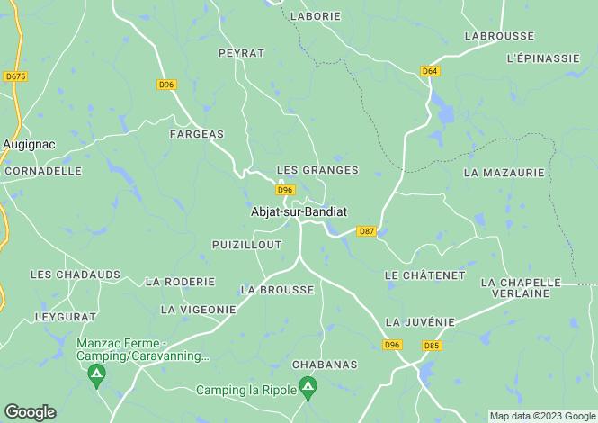 Map for Secteur: Abjat-sur-Bandiat, Dordogne