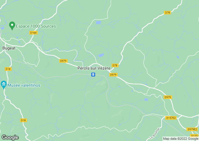 Map for Limousin, Corrèze, Pérols-sur-Vézère