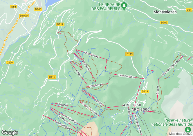 Map for les-arcs, Savoie, France