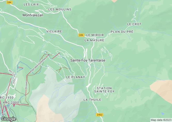 Map for New Ski In Ski Out Chalet, Sainte Foy, Tarentaise