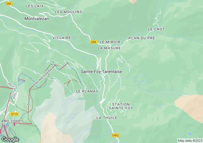 Map for Saint Foy, Rhone-Alpes, 73640, France