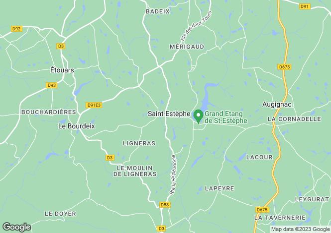 Map for Saint Estèphe, Dordogne, 24360, France