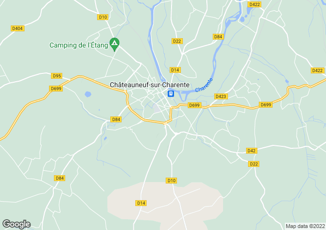 Map for chateauneuf-sur-charente, Charente, France