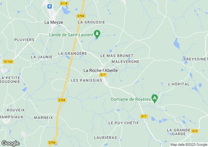 Map for la-roche-l-abeille, Haute-Vienne, France