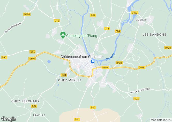 Map for Secteur: Châteauneuf-sur-Charente, Charente