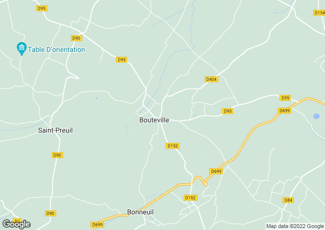 Map for bouteville, Charente, France