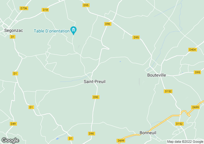 Map for st-preuil, Charente, France