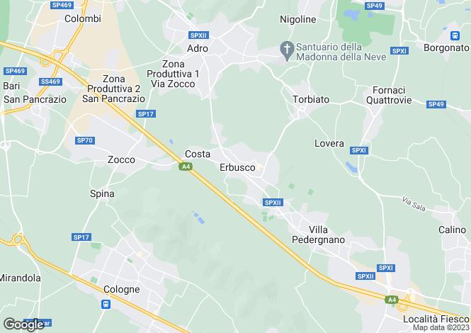 Map for Rovato, Brescia, Lombardy
