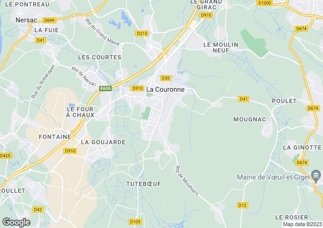 Map for la-couronne, Charente, France