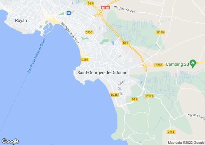 Map for Proche / Near Saint Georges de Didonne, Charente Maritime