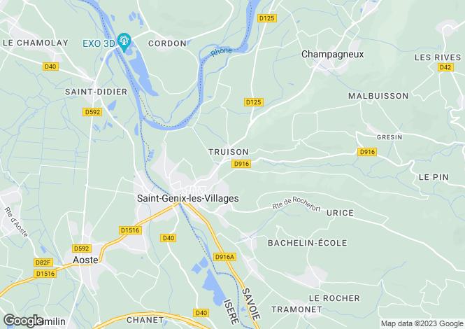 Map for st-genix-sur-guiers, Savoie, France