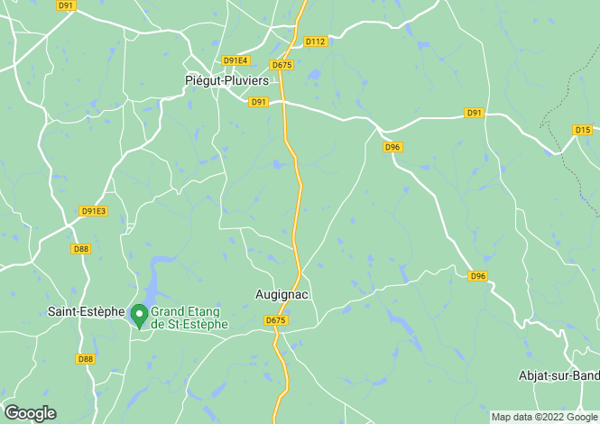 Map for augignac, Dordogne, France