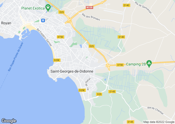 Map for st-georges-de-didonne, Charente-Maritime, France
