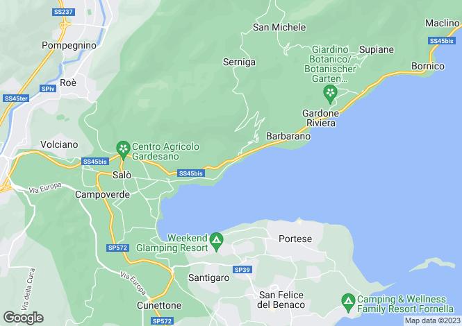 Map for Lombardy, Brescia, Salò