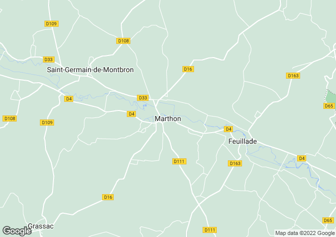 Map for Secteur: Marthon, Charente