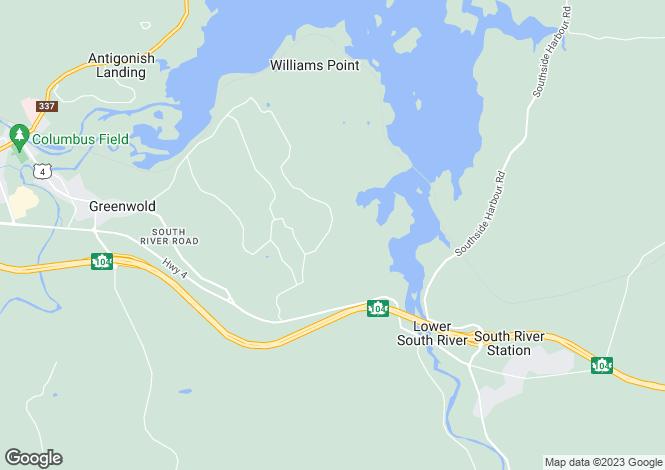 Map for Antigonish, Nova Scotia