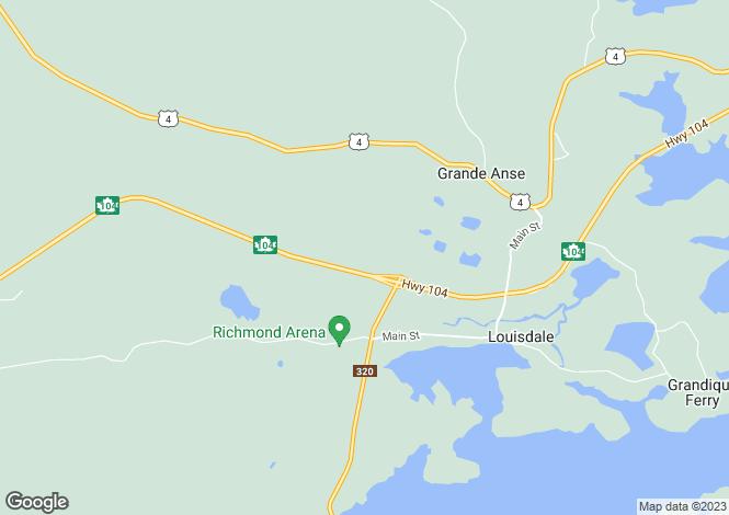 Map for Nova Scotia, Louisdale