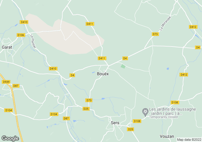Map for bouex, Charente, France