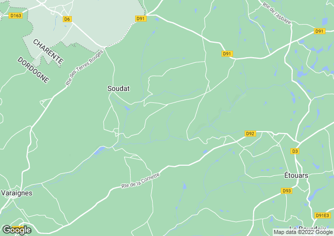 Map for soudat, Dordogne, France