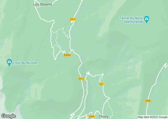 Map for les-deserts, Savoie, France