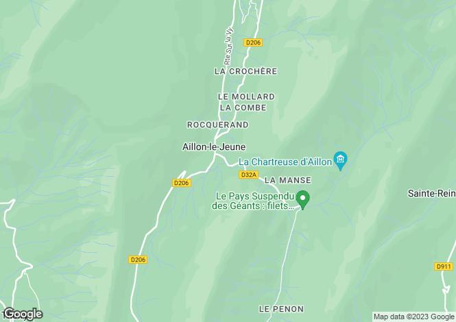 Map for Rhone Alps, Savoie, Aillon-le-Jeune