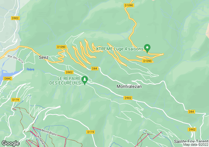 Map for 73700 MONTVALEZAN, Savoie, France