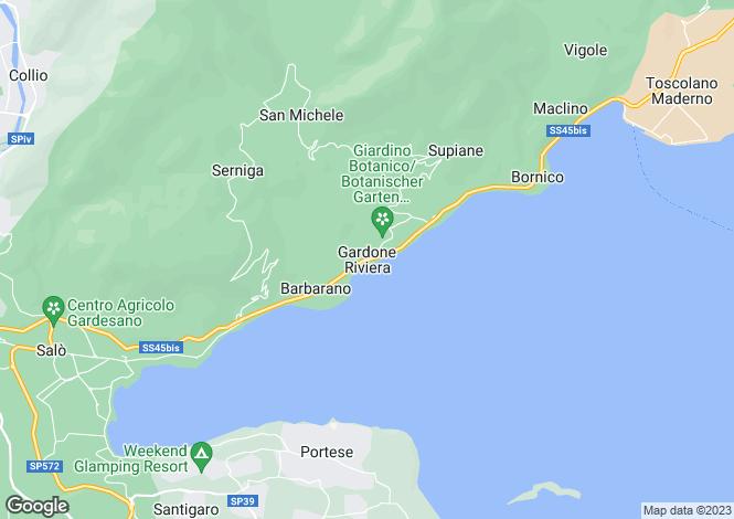 Map for Gardone Riviera 25083, Brescia